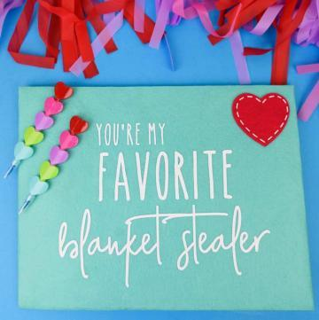 Felt Envelopes for Valentine's Day - Grab felt envelopes from the Target Dollar Spot and personalize them with vinyl for your significant other for Valentine's Day. It's a gift and a sarcastic (and honest) card all in one!