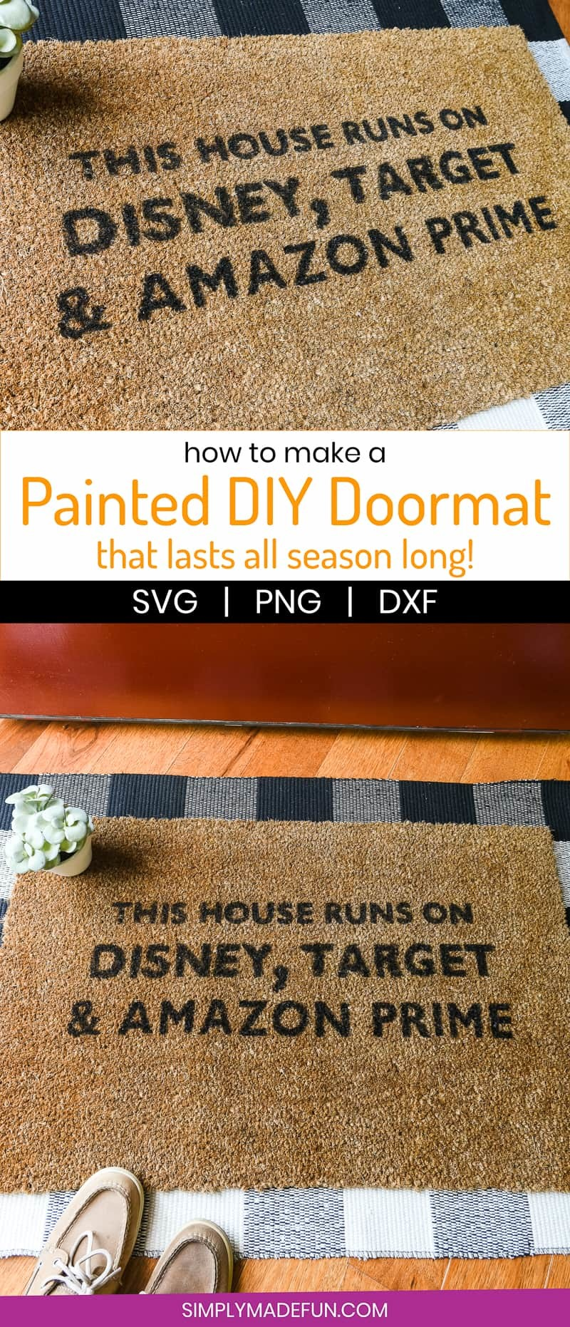How to Make a Painted DIY Doormat - Simply Made Fun