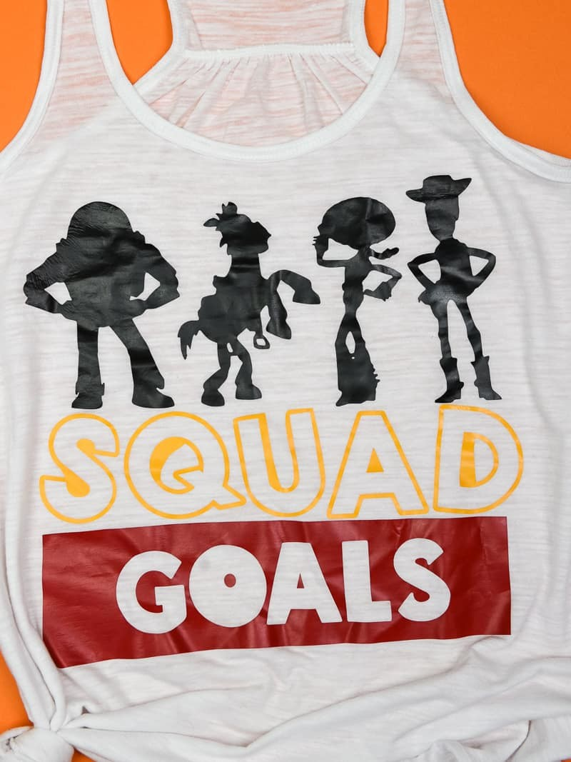 Toy Story Shirt - Toy Story Land is opening at Disney World Summer of 2018 and we're designing our own shirts for opening day! If you or your little ones love the Toy Story characters and can't wait for the new land to open at Disney's Hollywood Studios, you need these shirts! They're super easy to make with a Silhouette Cameo or Cricut Machine and when you're done you'll have super cute and custom shirts for your next Disney vacation!