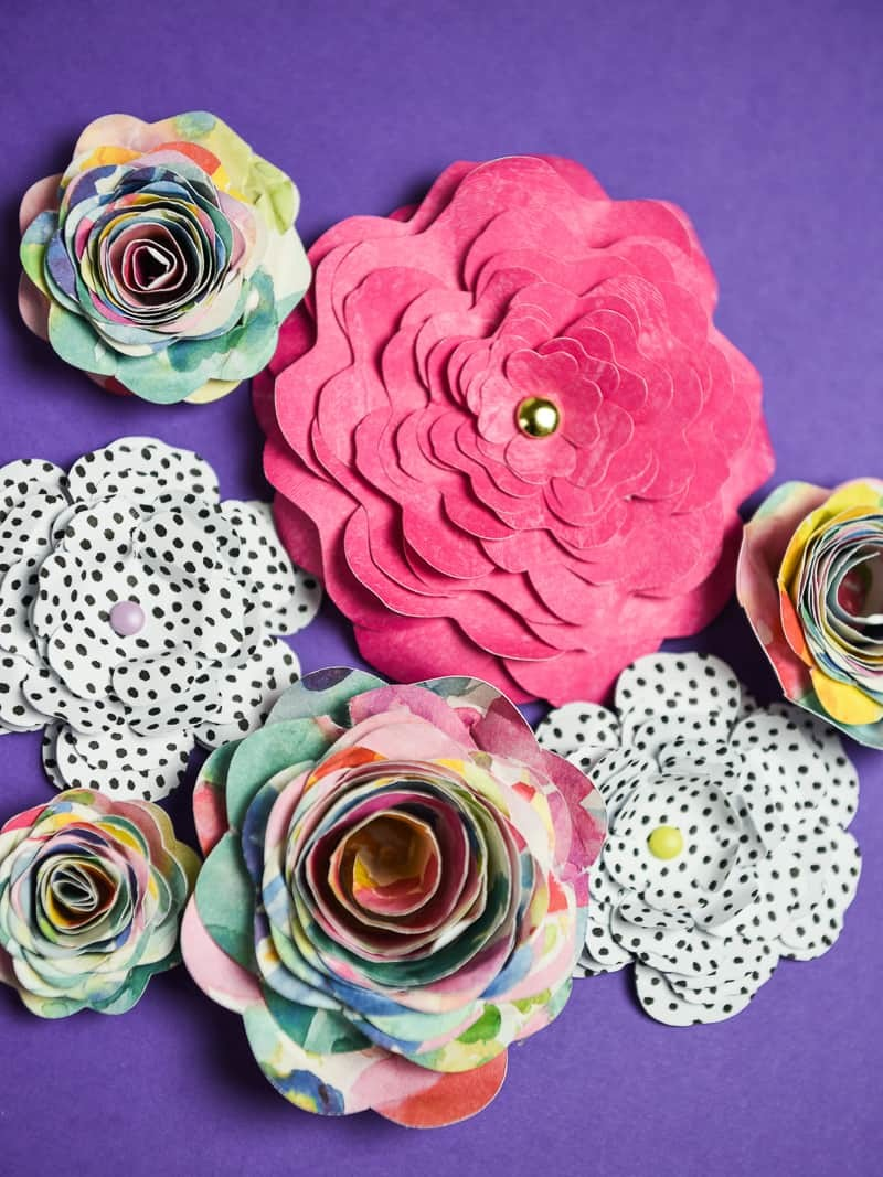 3 ways to make 3d paper flowers with your silhouette simply made fun 3d paper flowers sometimes it seems like all i do with my silhouette machine are mightylinksfo