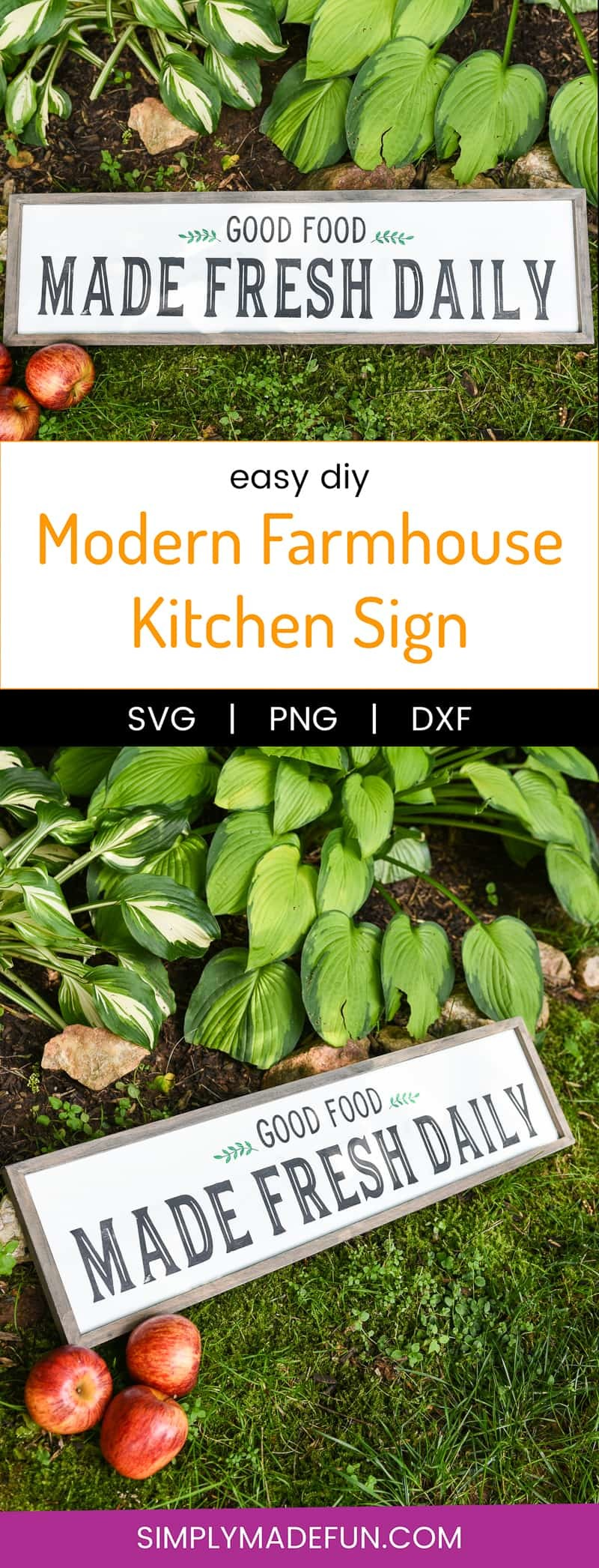 Modern Farmhouse Kitchen Sign Simply Made Fun