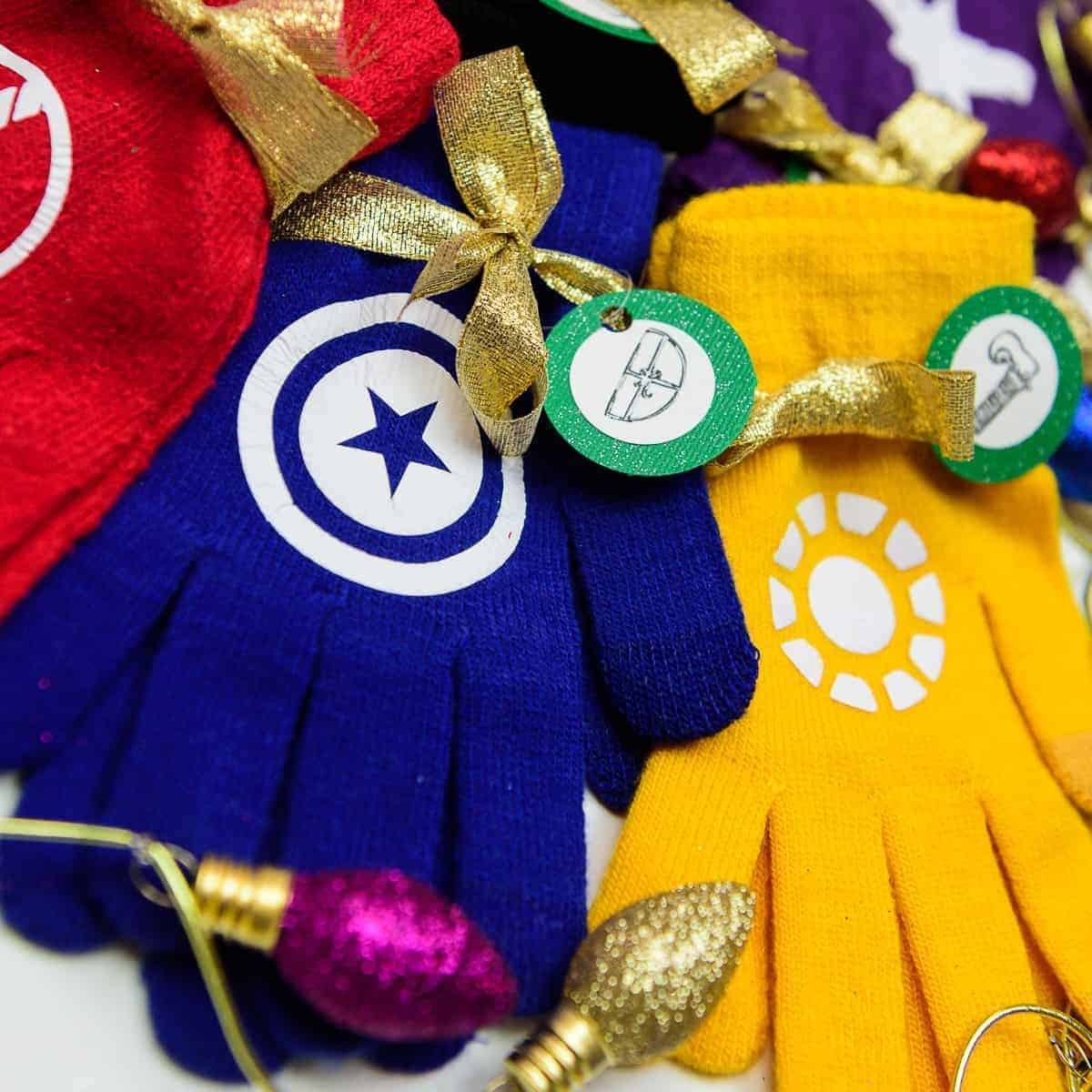 DIY Quick and Cheap Avengers Winter Gloves Stocking Stuffer