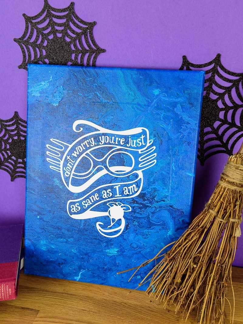 Harry Potter Acrylic Paint Poured Canvas Simply Made Fun