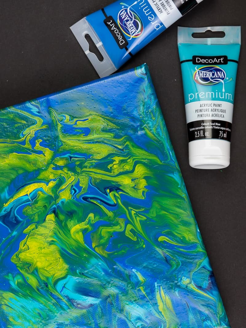 how to make an acrylic pour canvas simply made fun