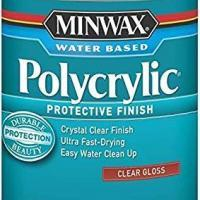 New Minwax Quart Clear Gloss Water Based Polycrylic Finish 6542948
