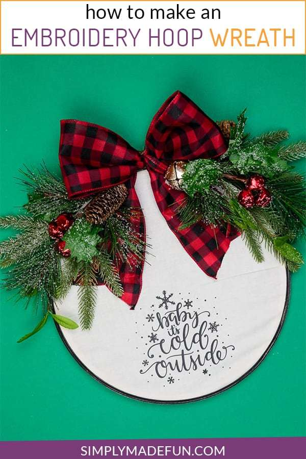 Embroidery Hoop Christmas Wreath DIY
