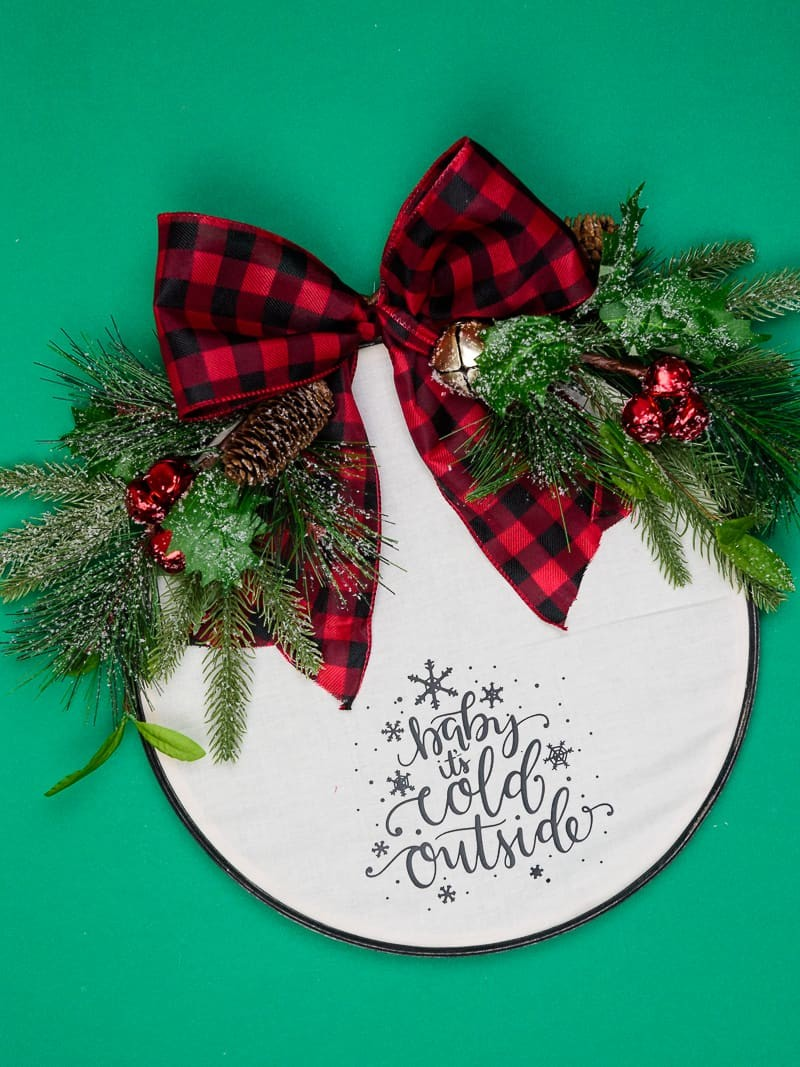 Easy Embroidery Hoop Christmas Wreath By Simply Made Fun