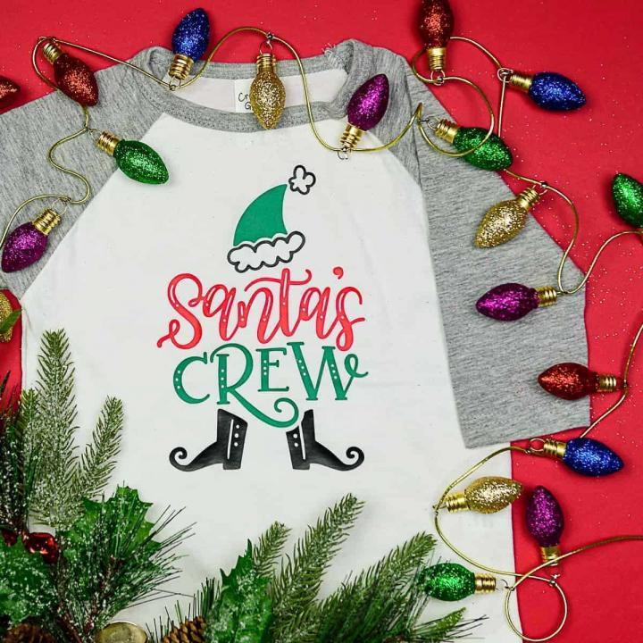 Hand Lettered Matching Family Christmas Shirts DIY