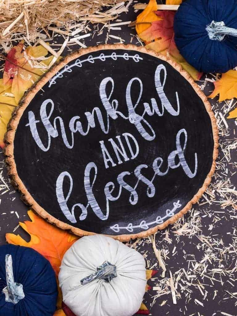 Reversible Holiday Sign, Thanksgiving Side