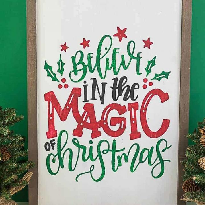 Reversible Holiday Wood Sign