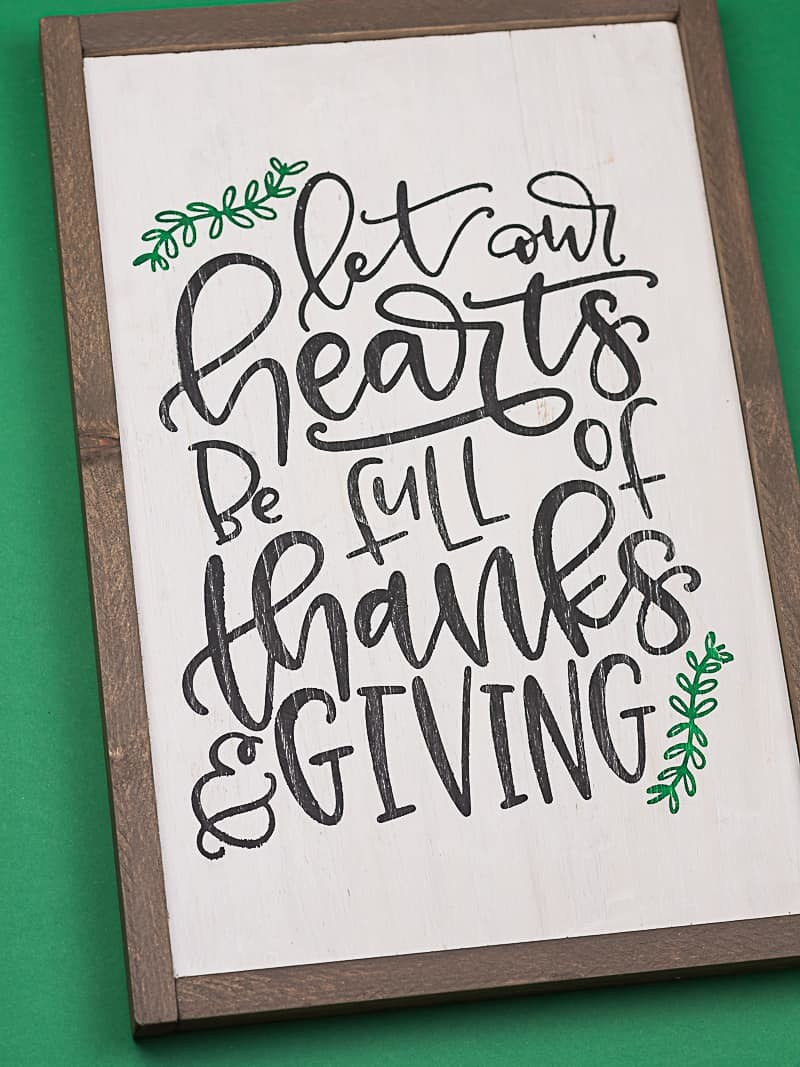 Reversible Hand Lettered Thanksgiving Sign