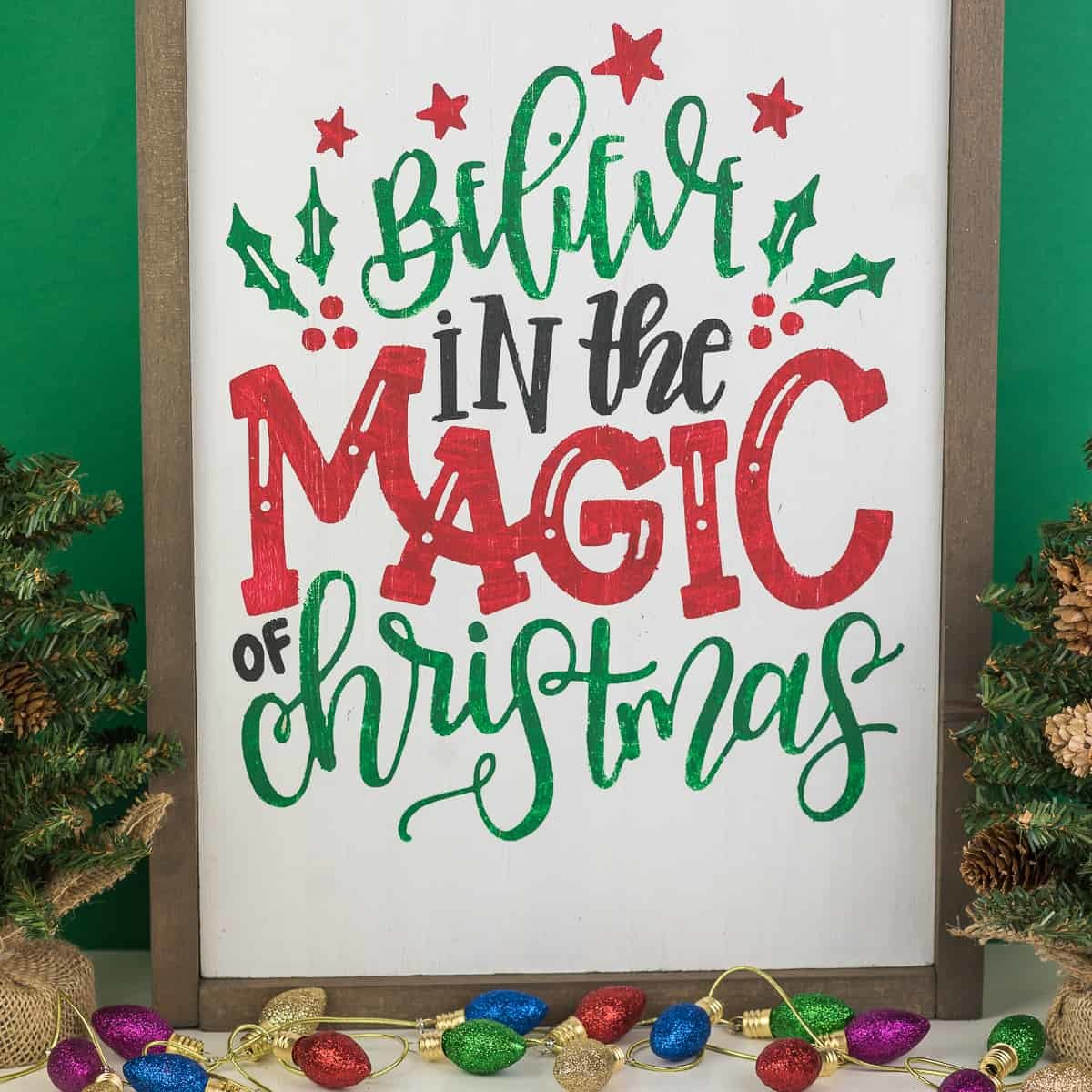 Reversible Hand Lettered Christmas Sign