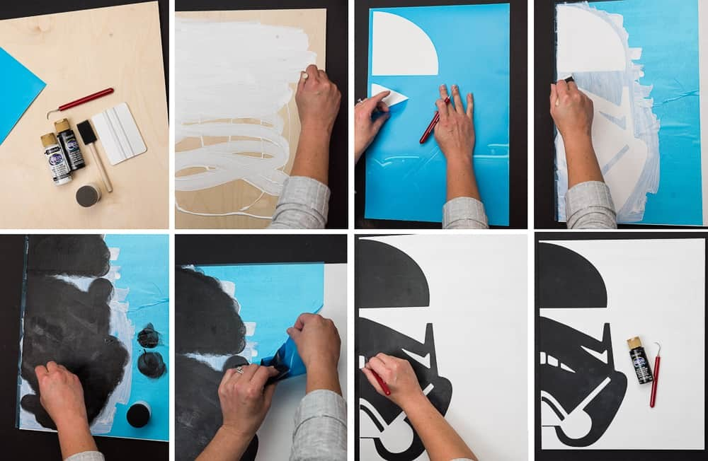 How to get clean paint lines when using a stencil with your Silhouette Cameo