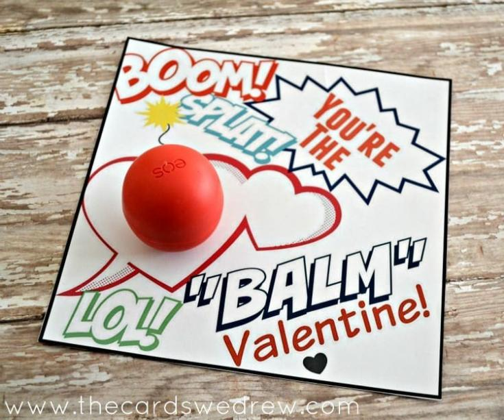 EOS Lip Balm Valentine and Free Print