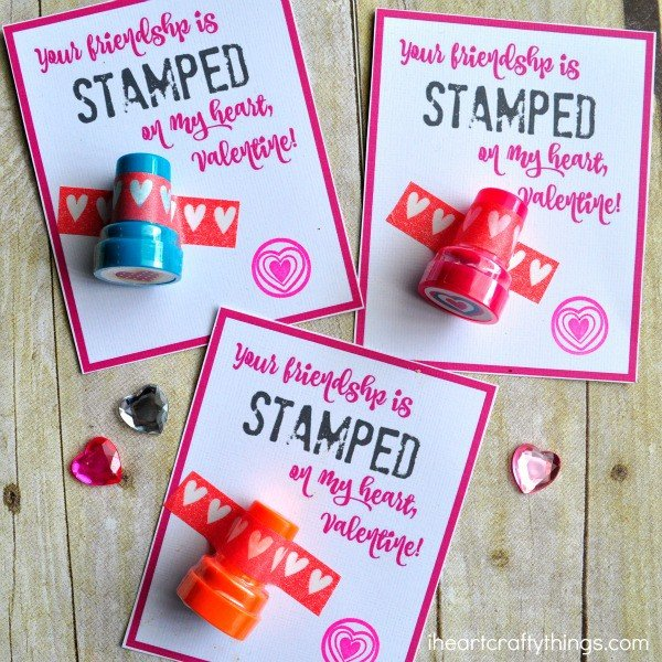 Heart Stamper Non-Candy Valentine with Printable