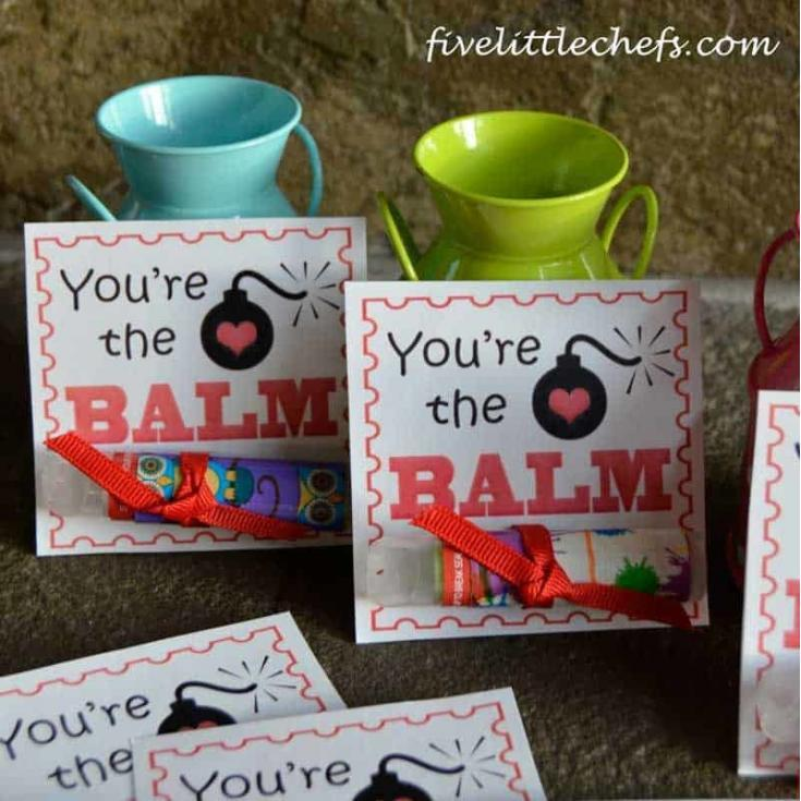 Printable Valentines Day Cards – You're The BALM!