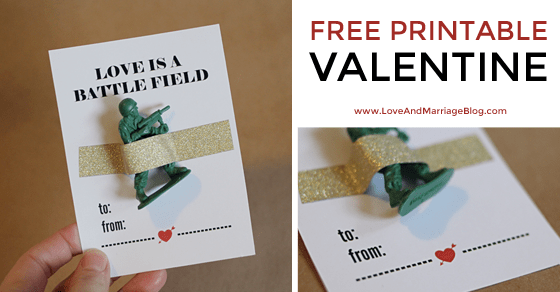 Printable Valentines Cards for Boys - Love and Marriage