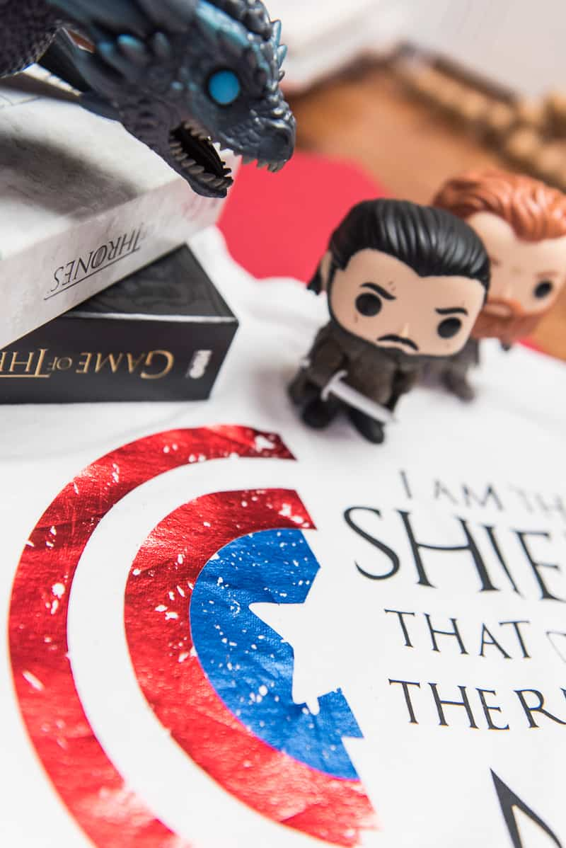 how to distress vinyl on a Game of Thrones shirt