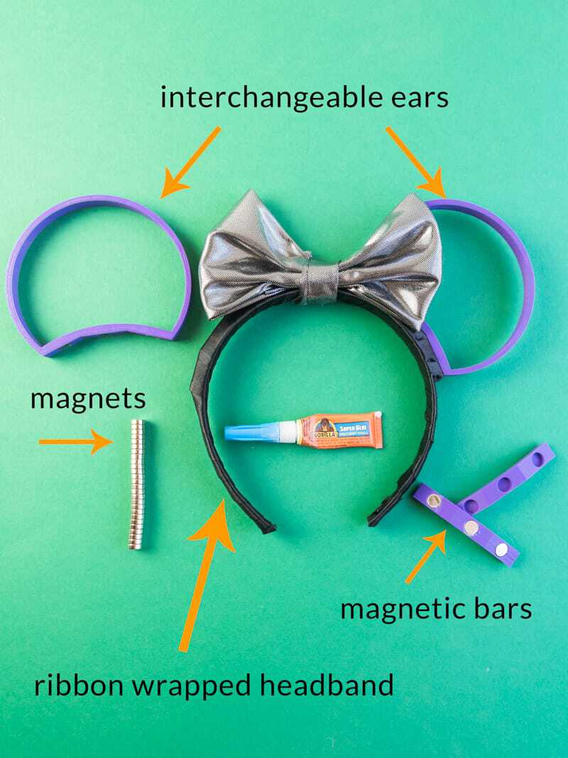 Diy 3d Printed Interchangeable Mickey Ears Simply Made Fun