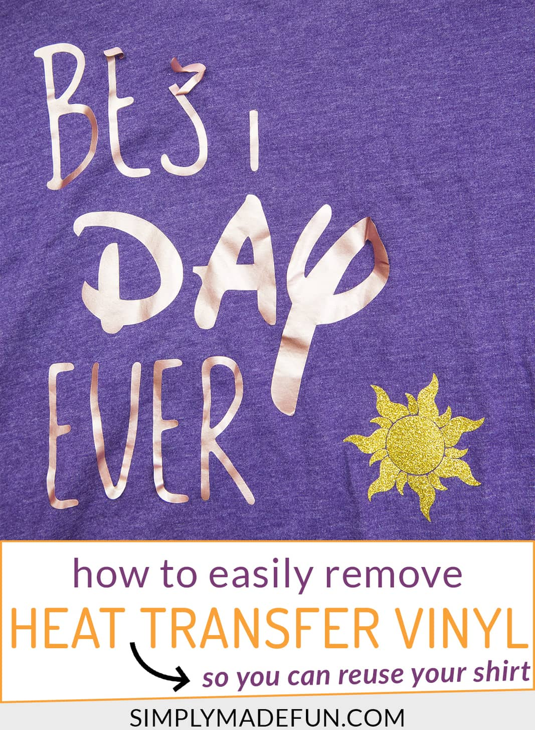Remove heat transfer vinyl with Letting Removing Solvent Pinterest Image