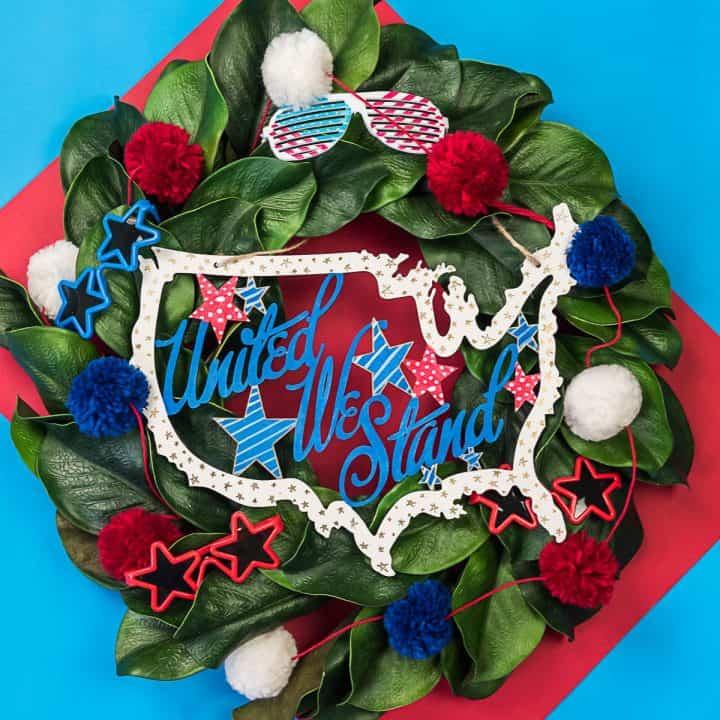United We Stand USA Wooden Door Hanger