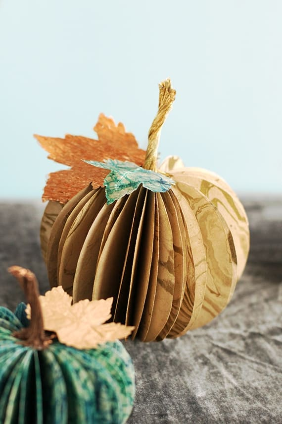 Paper Pumpkin Centerpiece