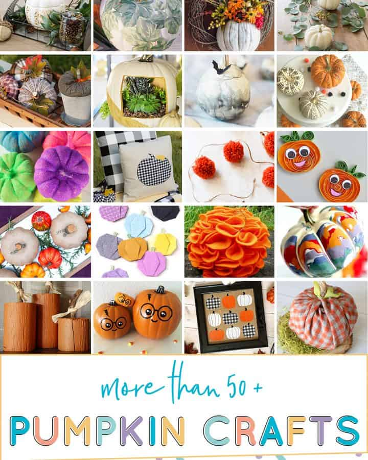 Choose from over 50 diy fall pumpkin crafts to try!