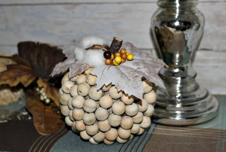 How To Make A Farmhouse Style Wood Bead Pumpkin