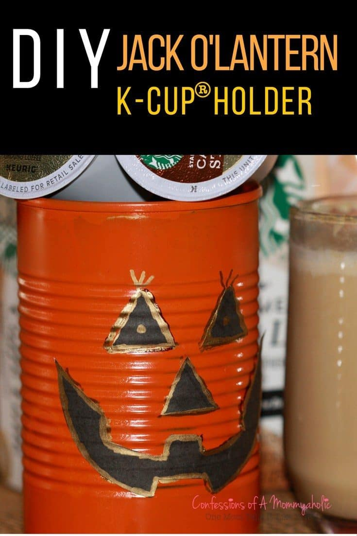 DIY Jack O'Lantern K-Cup Storage Holder with FREE Printable
