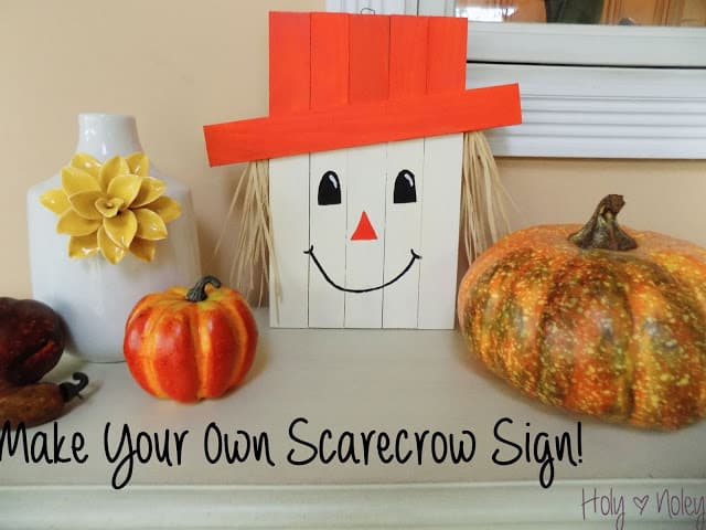 Fri-DIY Fall Scarecrow Decoration