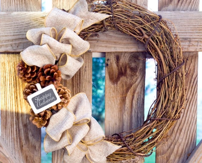 DIY Fall Wreath: Rustic Burlap - Crafts Unleashed