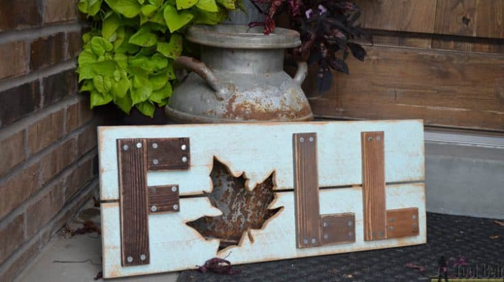 Wooden Fall Sign - Her Tool Belt
