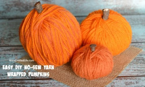 Easy DIY No-Sew Yarn Wrapped Pumpkins