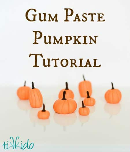 Easy Gum Paste Pumpkin Fall Cupcake Topper