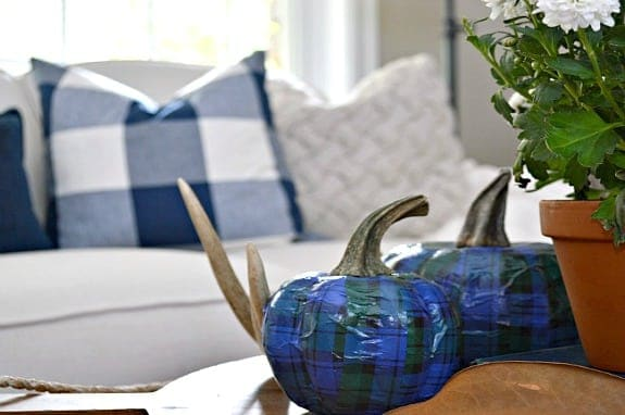 Plaid Dollar Store Pumpkin DIY