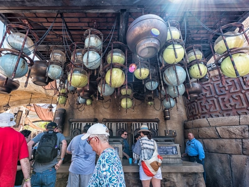Try the green milk and blue milk drinks at Star Wars Galaxy's Edge at Disney World