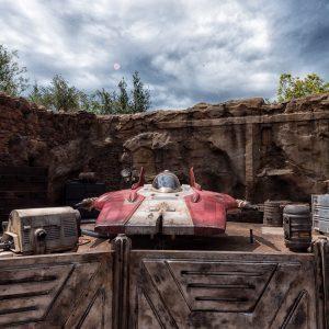 The A Wing Rebel Ship at Star Wars Galaxy's Edge at Disney World