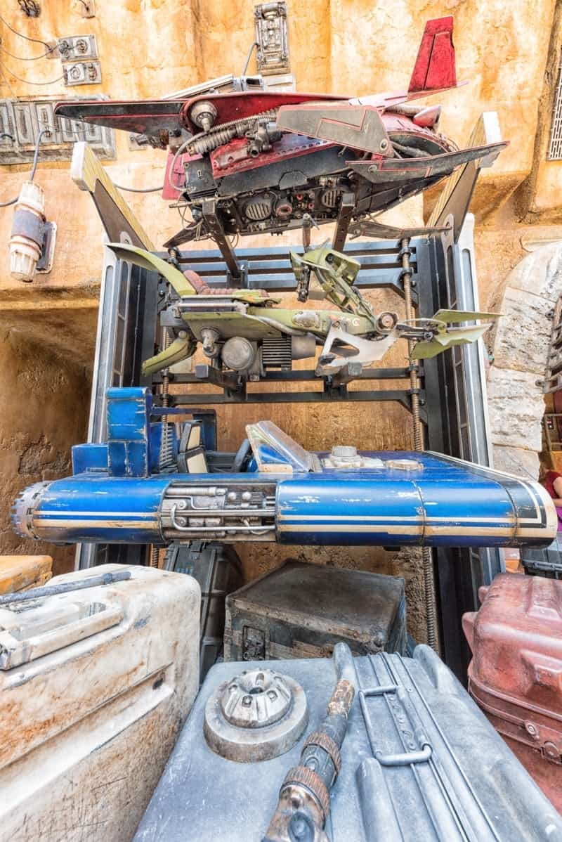 Han Solo's landspeeder from A Solo Story at Star Wars Galaxy's Edge at Disney World