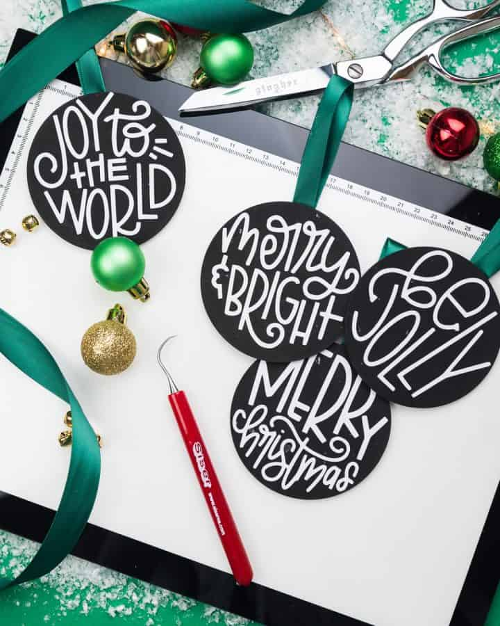 How to Put Heat Transfer Vinyl on Wood Ornaments