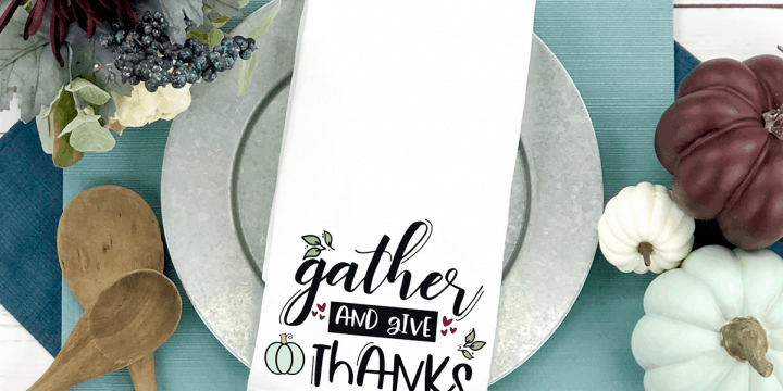 Free Thanksgiving Gather and Give Thanks SVG