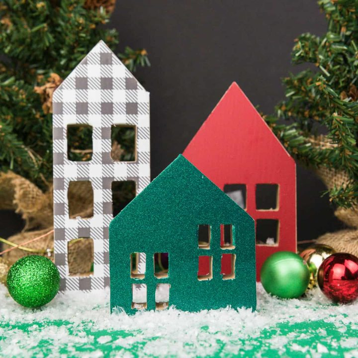 Christmas Village with Adhesive Vinyl
