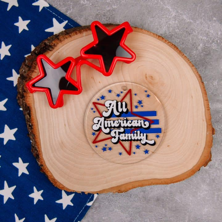 All American Family SVG Cut File - 4 ways!