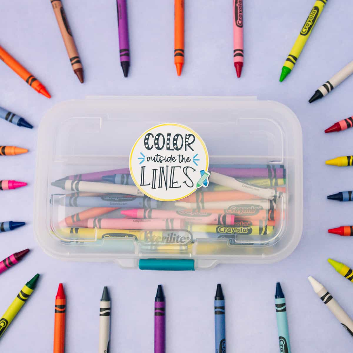 Color Outside the Lines Back to School SVG