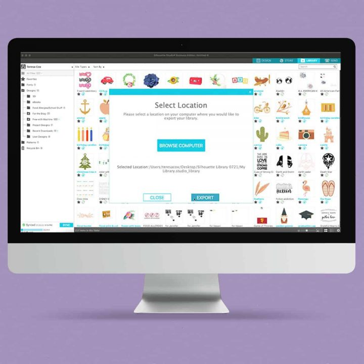 How to Back Up Your Silhouette Design Library