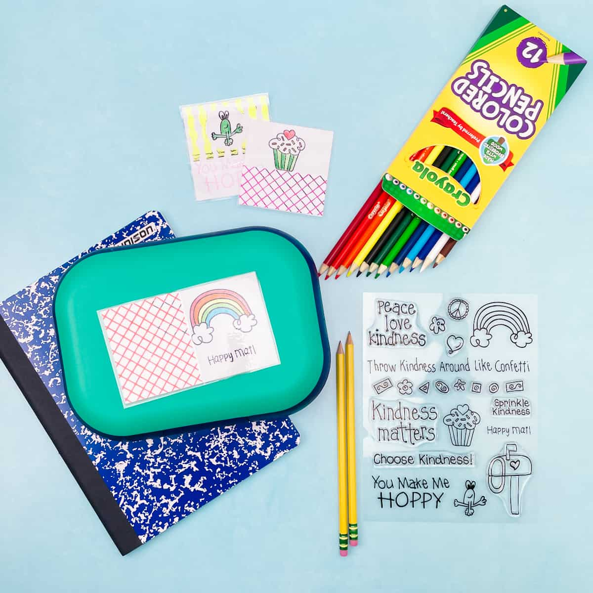 Laminated Back to School Lunch Notes
