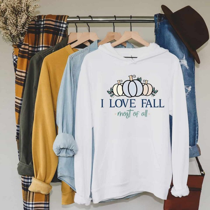 I Love Fall SVG for Sublimation