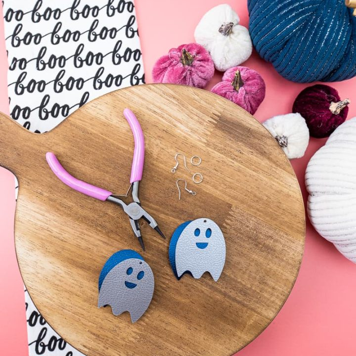 Layered Faux Leather Ghost Earrings